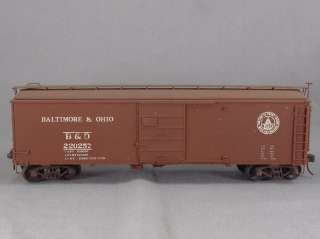 DTD TRAINS   B&O #220257 CUSTOM BOX CAR   O SCALE BRASS MODEL