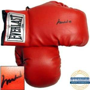Ali Autographed Everlast Vinyl Boxing Gloves