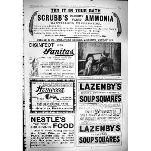 1900 Advertisement ScrubbS Ammonia Lazenby Soup Squares