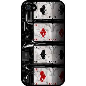 Cards Design Rubber Black iphone Case (with bumper) Cover for Apple