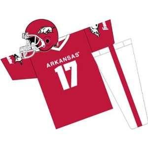 Arkansas Razorbacks Youth NCAA Team Helmet and Uniform Set