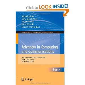 Advances in Computing and Communications, Part IV: First
