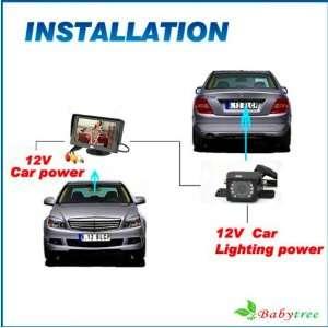 Rearview Car Camera& 4.3 Tft Lcd Backup Car Monitor: Car Electronics