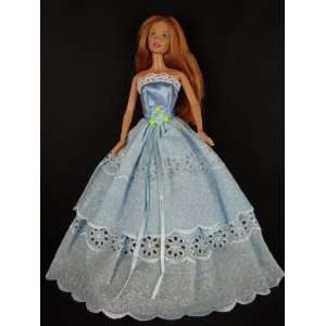 Gown Made with Eyelet Lace Made to Fit the Barbie Doll Toys & Games