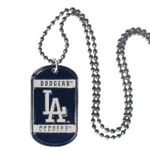 Angeles Dodgers Dog Neck Tag Necklace Officially Licensed MLB Baseball
