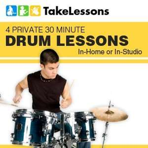 TakeLessons 4 Private 30 Minute Drum Lessons In home or