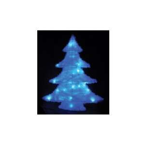 Snow White Fabric Battery Operated LED Christmas Tree, 60