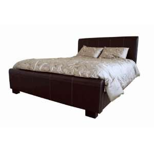 Queen Leather Bed Frame Black B 16