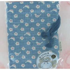 for Carrying Small Lunch Boxes. Blue with White/pink Flowers and Birds