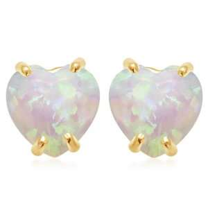 10k Yellow Gold, October Birthstone, Created Opal 6 mm