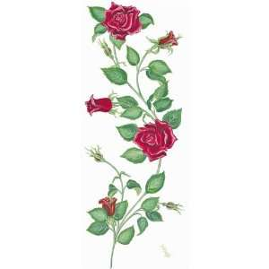 Rose Vine Border   16 Feet   Tatouage Rub On Wall Transfer