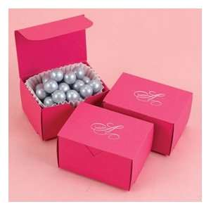 Personalized Hot Pink Wedding Favor Boxes Set of 25 Everything Else