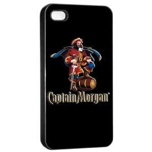 Captain Morgan Rum Liquor Logo Case For iPhone 4/4s (Black
