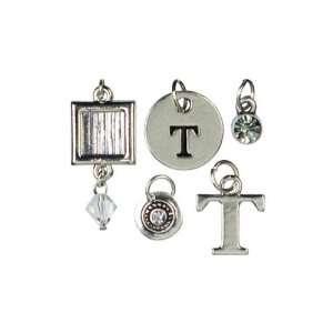 Cousin Jewelry Basics 5 Piece Metal Alpha Charm T Arts