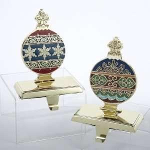 Ornament Gold Finish Christmas Stocking Holders 7.25