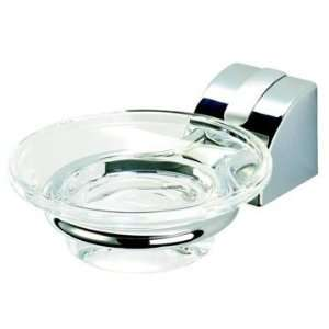 Geesa 8003 02 Wall Mounted Clear Glass Soap Dish With Chromed Mounting