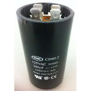 Capacitor Motor Start Cd60 2 200uF x 125vac: Electronics