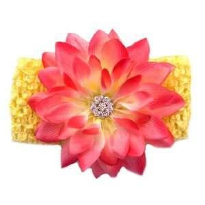 Tropical Beauty Hot Pink Dahlia Flower Headband Beauty