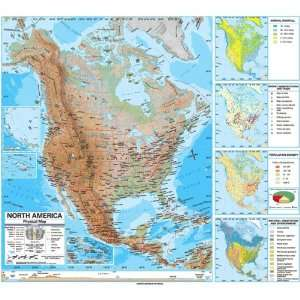 Map 762544198 North America Advanced Physical Classroom Wall Map