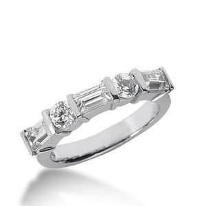 14K Gold Diamond Anniversary Wedding Ring 2 Round Brilliant Diamonds