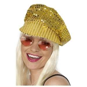 Smiffys Disco Sequin Hat Gold  Toys & Games