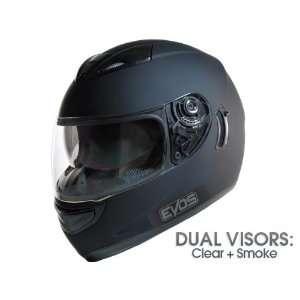 DOT APPROVED   EVOS MOTORCYCLE FULL FACE HELMET DUAL VISOR