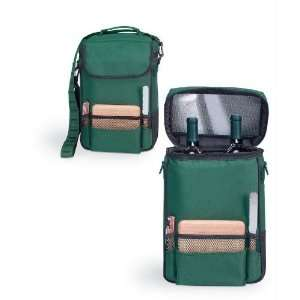 Exclusive By Picnic Time Duet   Green Deluxe Wine Tote