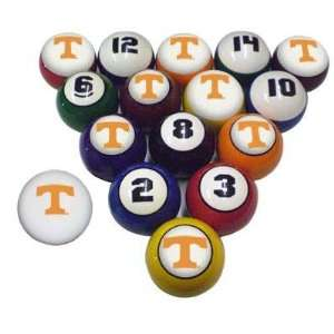 UT Vols Volunteers Billiard/Pool 8/Cue 16 Ball Set: Sports & Outdoors