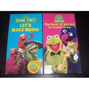 Seasame Street 2 VHS tape set The Best of Kermit on Sesame Street/Let