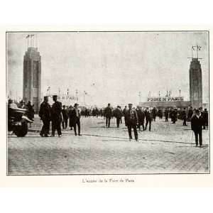 1925 Print Foire Paris Fair Entrance Costume France Gendarme Street