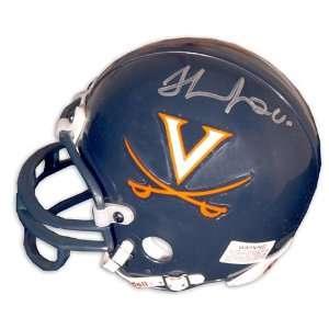 Thomas Jones Autographed Virginia Mini Helmet