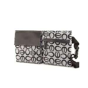 Designer Inspired Jacquard Pattern Fanny Bag Pouch Waist Pack BLACK