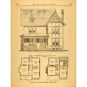 Floor Plans Home   Original Halftone Print