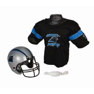 Carolina Panthers NFL Football Helmet & Jersey Top Set