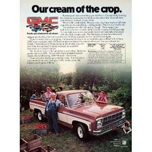 1979 Ad GMC General Motors Pickup Trucks Farming Hauling