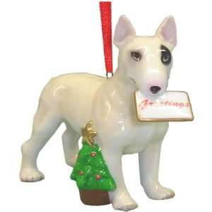 Holiday Bulldog Bull Dog Ornament Statue Figurine Home & Kitchen