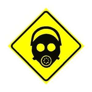 GAS MASK AREA military warning danger sign