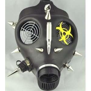 Bullet Spike Gas Mask Cyber Punk Bio Hazard Halloween