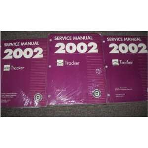 2002 Chevrolet Chevy Geo Tracker Service Manual Set OEM (3