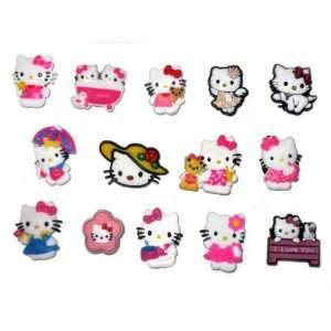Set of 14 Hello Kitty Style Your Crocs Fun Clips Shoe Clogs Charms
