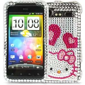 HELLO KITTY CRYSTAL BLING CASE FOR HTC INCREDIBLE S Cell Phones