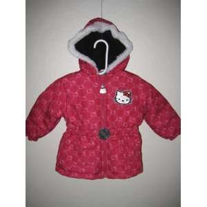 Hello Kitty Infants Girl Puffer Jacket; Size 2T, 3T OR 4T; Color
