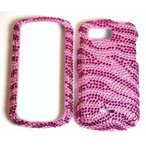 Pink with Hot Pink Zebra Samsung Moment M900 Sparkling