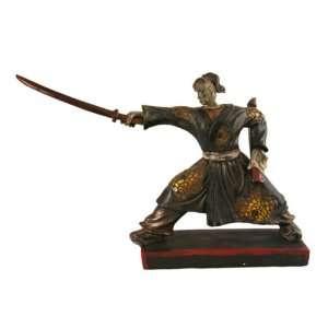 Japanese Samurai Warrior Figurine Sculpture Art SM37242A