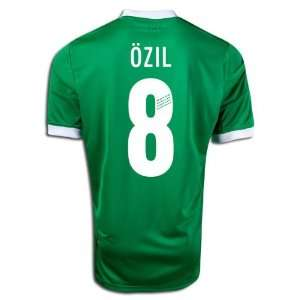 com New Soccer Jersey Euro 2012 Ozil # 8 New Germany Away Green Short