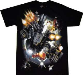 Iron Man War Machine Full Metal Jacket Black T Shirt