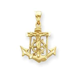 14kt 3/4in Mariners Cross Pendant/14kt Yellow Gold Jewelry