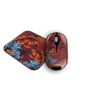 Ed Hardy Koi Fish Wireless Mouse and Pad (2 in 1 Pack