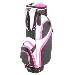 Hunter Ladies Envy Golf Cart Bags   BlackWhiteFuchsia