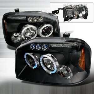 04 Nissan Frontier Projector Headlights   Black Blue Lens Automotive